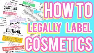 How To Legally Label Cosmetics Ι TaraLee