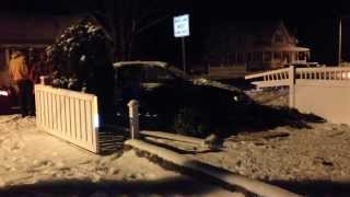 preview picture of video 'Wellsville Ny 14895 300 E Dyke St : Car Accident 2013 November 29th'