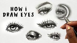 How I Draw Eyes | Drawing Eyes Tutorial