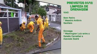Cuidando de Santos: confira os serviços previstos para 2ª feira (01/10)