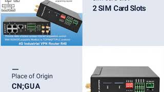 4G LTE Cellular Industrial Router wireless smart gateway router youtube video