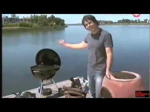 Barbacoa de Carbón Weber cocinando