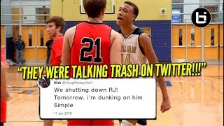 """THEY WERE TALKING TRASH ON TWITTER!"" RJ Hampton Game Got Heated! Ballsilife Full Highlights"