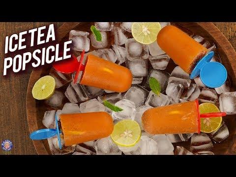 Homemade Lemon Iced Tea Popsicle – How To Make Ice Tea Popsicle – Summer Special Popsicle – Bhumika