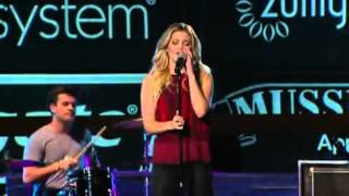 """Olivia Holt performs """"Carry On"""" at the Colgate Skating & Gymnastics Spectacular (Live)"""
