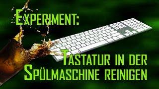 Tastatur in Spülmaschine reinigen - Experiment