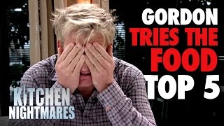 TOP 5 MEALS of 'Gordon Tries the Food' | Kitchen Nightmares