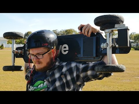 Evolve Skateboards All-Terrain Carbon Series Electric Skateboard Review | DansTube.TV