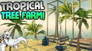 "Raft Gameplay - ""TROPICAL TREE FARM!!!"" Walkthrough Let"