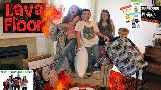 The Floor Is Lava   LAVA MONSTER   SECRET NINJA MISSION   That YouTub3 Family | Family Channel