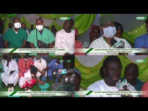 Santé _ Journee Santati Mame Cheikh Ibrahima Fall Lamp à Kaolack Organisé Par Serigne Modou Guissé