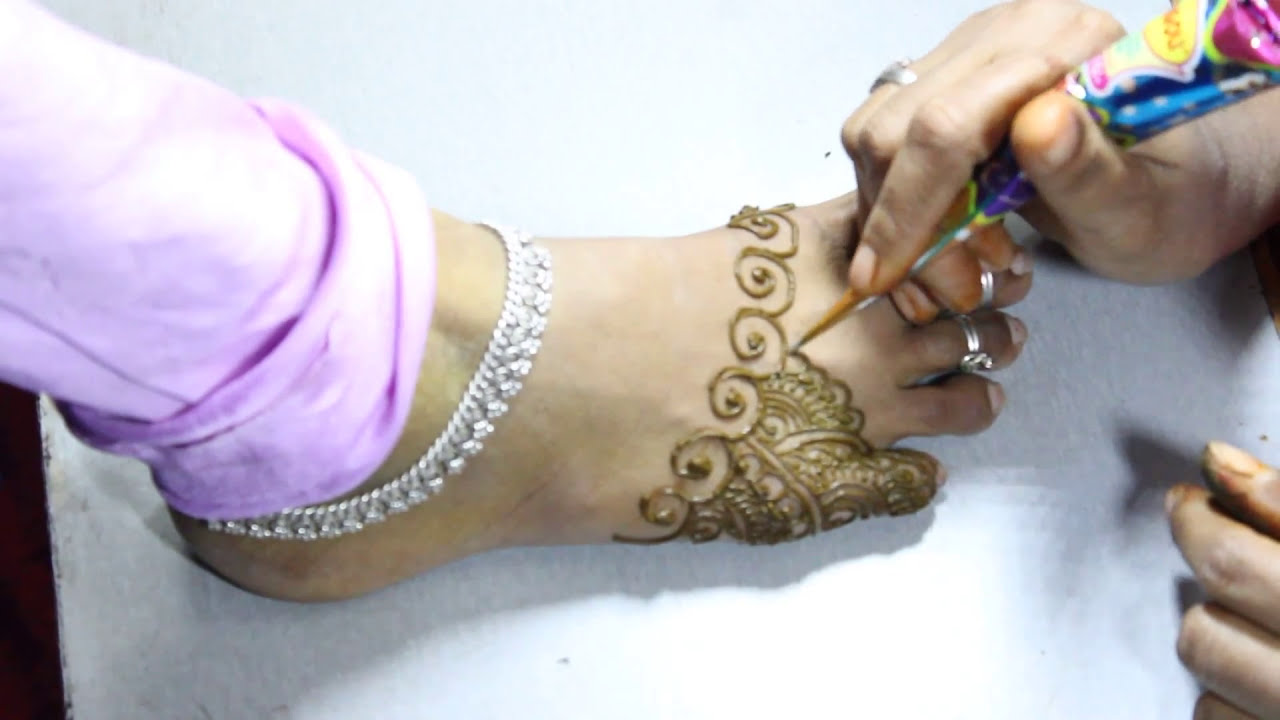 bridal mehndi designs for feet tutorial by style mehndi designs and fasion art