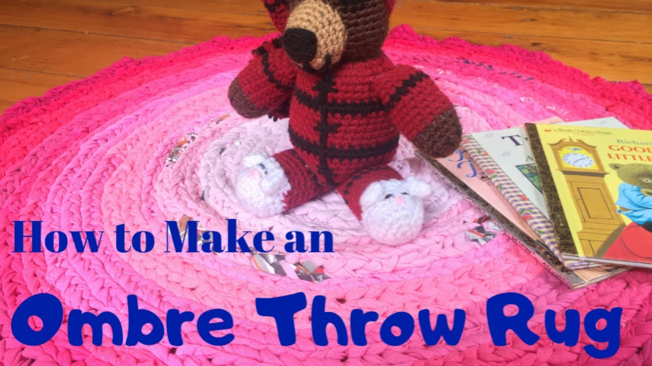 How to Make this Fun Ombre Throw Rug