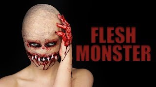 FLESH MONSTER Halloween SFX Makeup Tutorial