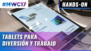 Galaxy Tab S3 y Galaxy Book, hands-on en español - #MWC2017