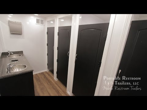 8 Station Portable Restroom Trailer | Classic Series