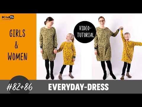 Sweatkleid für Damen und Mädchen ganz einfach selber nähen DIY-Näh-Tutorial