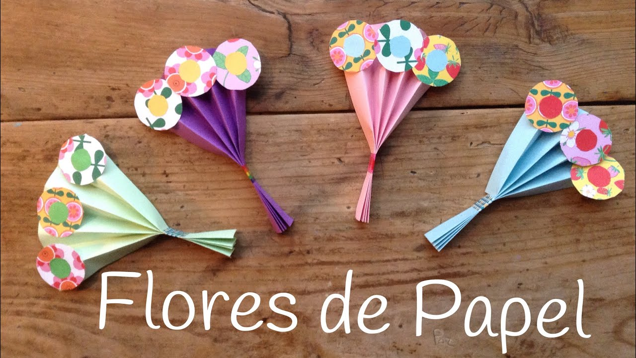 ramo de flores de papel regalos caseros para el dia de la madre
