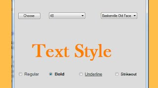 C# - How To Style Text ( Font Name, Size, Style ) In C# [ with source code ] Part 2