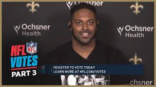 NFL Votes Roundtable w/ Cam Jordan (Part 3) | New Orleans Saints