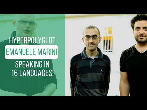 Hyperpolyglot Emanuele Marini speaking in 16 languages!