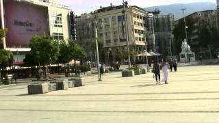 アキーラさん散策⑤旧ユーゴスラビア・マケドニア・スコピエ・マケドニア広場・Skopje,Macedonia