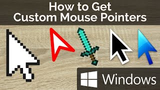 how to get custom mouse pointers