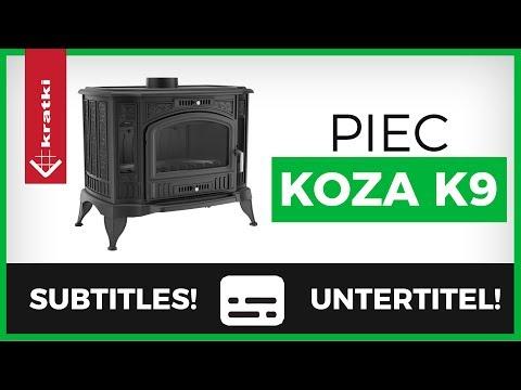 Печь-камин Kratki Koza/K9/термостат (видео)