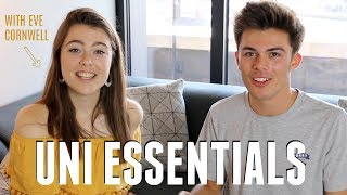 WHAT TO TAKE TO UNI! Packing Essentials + University Checklist! (w/ Eve Cornwell) | Jack Edwards
