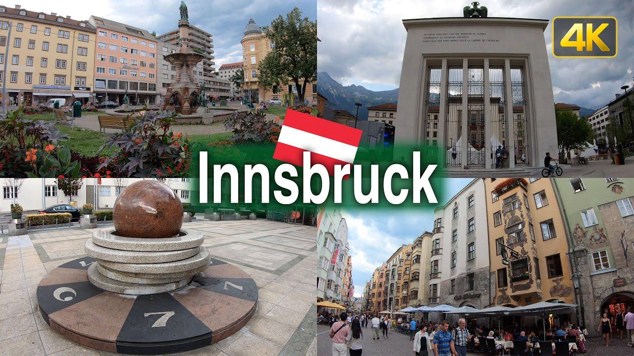 Innsbruck Austria City Tour in 4K