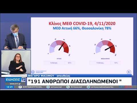 Σ.Τσιόδρας | Τα επιδημιολογικά στοιχεία του Κορονοϊού στην Ελλάδα | 05/11/2020 | ΕΡΤ