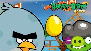Angry Birds Seasons - GOLDEN EGG (SUMMER CAMP) Level 11 to 15