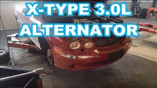 Jaguar X Type (2002 3L) Alternator, Belt & AC Compressor Replacement