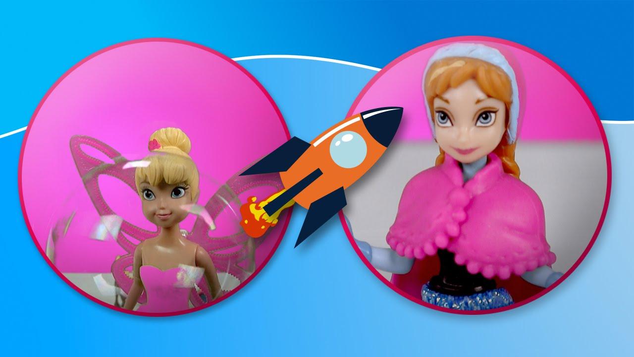 Frozen y Campanilla juegan a hacer burbujas en Tateti Toys