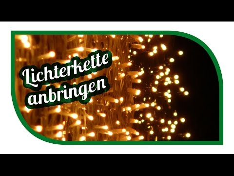 LED Lichterkette anbringen | clever montieren an der Regenrinne | Weihnachtsdeko