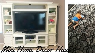 Mini Home Decor Haul ~ New Entertainment Center -Kirklands, Badcock & ALDI