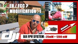 ✔️ DJI FPV System HACK : Comment modifier la puissance de 25 mw à 1200 mW pour faire du long-range ?