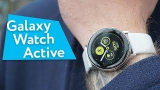 Смарт-часы Samsung Galaxy Watch Active Gold (SM-R500NZDA) от компании Cthp - видео 2