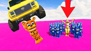 SUPER ADVENTURE FREDDY SAVES CHICA FROM EVIL ADVENTURE BONNIE ARMY! (GTA 5 Mods FNAF Funny Moments)