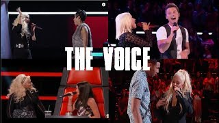 CHRISTINA AGUILERA SINGING WITH CONTESTANT ON THE VOICE (Blind Auditions Only) - Video Youtube