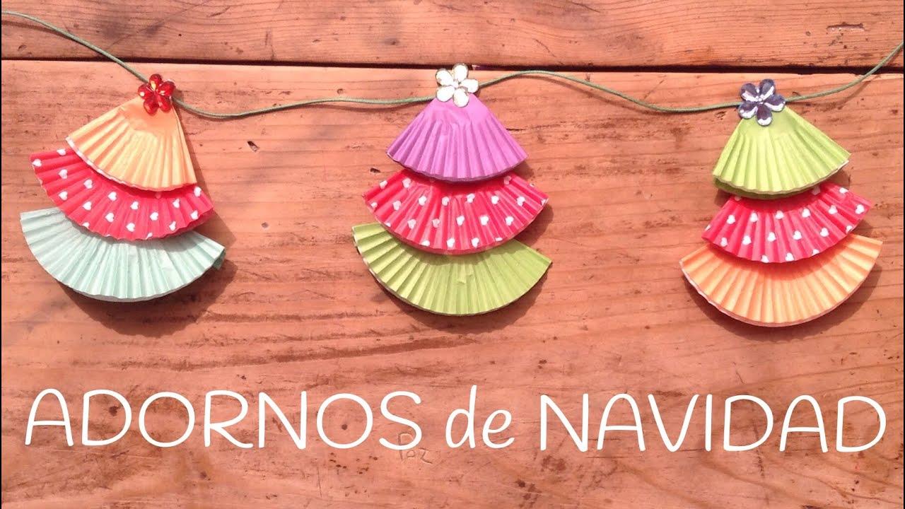 ÁRBOLES DE NAVIDAD con cupcakes  | Adornos para el árbol de Navidad
