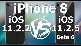 iPhone 8 : iOS 11.2.2 vs iOS 11.2.5 Beta 6 / Public Beta 6 Build 15D5059a