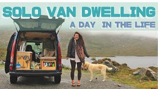 A day in the life of a SOLO girl van dweller