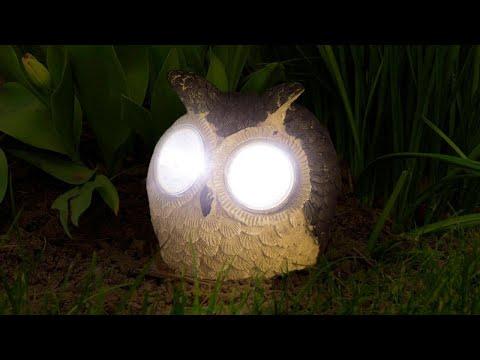 Lampa Solara LED Bufnita cu 2 LED-uri