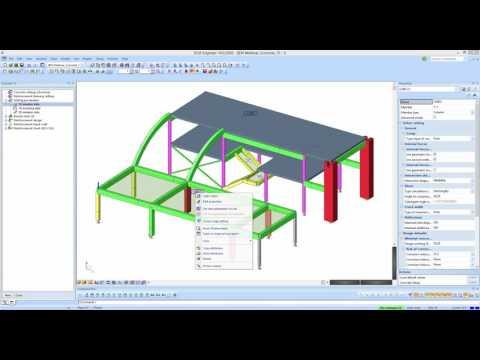 Transparent concrete design in SCIA Engineer