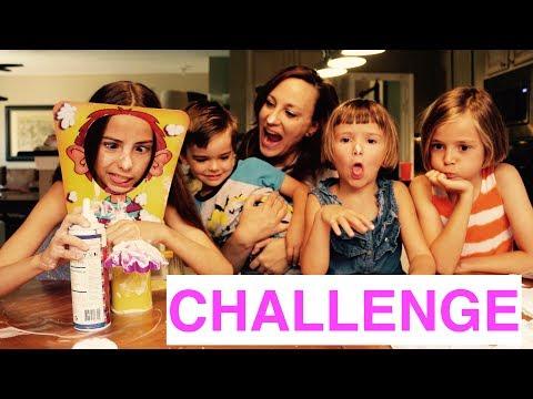 SAHNE CHALLENGE - 6-Köpfige Familie aus den USA - Spass mit Familienspiel