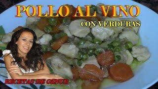 POLLO AL VINO CON VERDURAS | recetas de cocina faciles rapidas y economicas de hacer - comidas ricas
