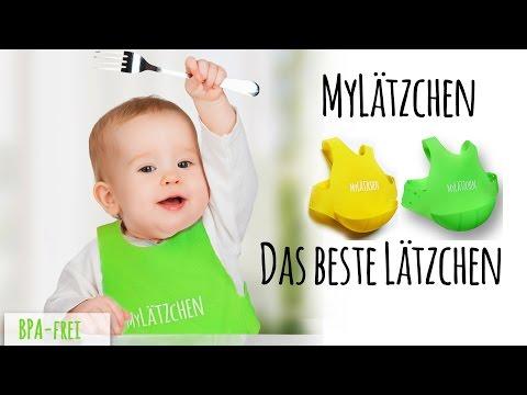 Das beste Baby-Lätzchen - MyLätzchen - Premium Silikon Lätzchen mit Auffangschale