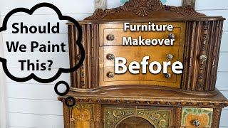 Should We Paint This?  Furniture Makeover Before And After