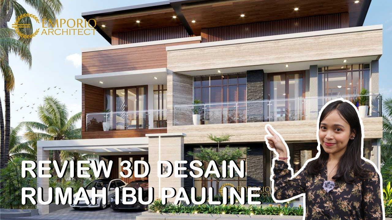 Video 3D Desain Rumah Modern 3 Lantai Ibu Pauline di Bandung, Jawa Barat
